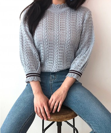 Punch Knit_Blue