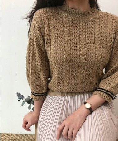 Punch Knit_Brown