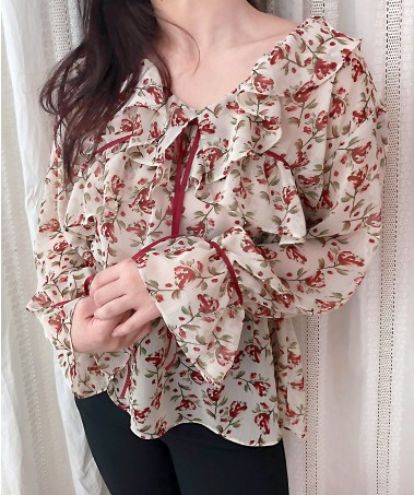 Cherry Blouse_Ivory