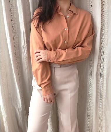 Peach Shirts_Orange(1차 재입고)