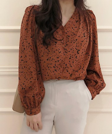 Leopard Blouse_Brown
